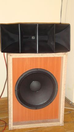 High efficiency 2 way horn loudspeaker