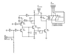 Speaker delay circuit schematic