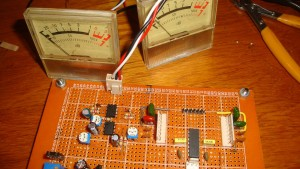 Monitoring Amplifier Vu meter circuit アンプVUメーター回路を監視する